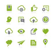 Social Sharing Icons // Natura Series - stock illustration
