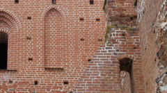 An old medieval church that is abandoned Stock Footage