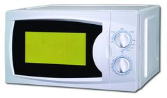 Image of the microwave oven on a white background Stock Photos