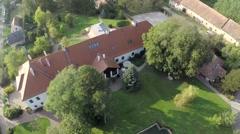 Aerial Europian mansion Stock Footage