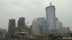 Tianfu Square, modern China, Chengdu Stock Footage