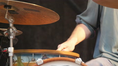 A unique drumsticks with metal strips on the tip Stock Footage