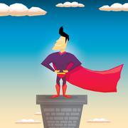 Super hero. vector illustration Stock Illustration