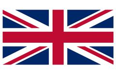 Great Britain flag against a white background - stock photo
