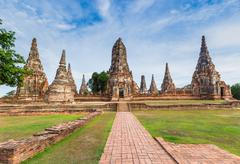 Wat chaiwatthanaram temple, ayutthaya, thailand (ayutthaya historical park ) Stock Photos
