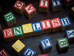English language - stock photo