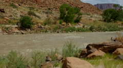 Rafting on the Colorado River - stock footage