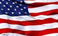 American flag background - shot and lit in studio Stock Photos