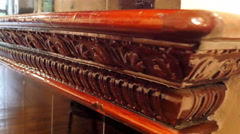 The closer look of the detailed design of the mantelpiece - stock footage