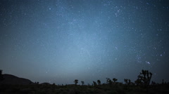 Time Lapse of Perseids Meteor Shower - Joshua Tree California Desert Stock Footage