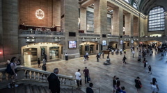 New York City, USA-Jul 6,2015: Grand Central train station in New York City, Stock Footage