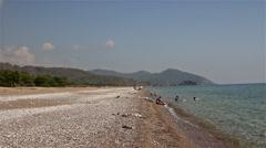 Cirali Beach. Panorama. Antalya. Turkey. Stock Footage