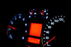 Speedometer of a car - stock photo