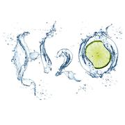 h2o with lime - concept nature - excellent quality - stock photo