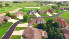 New affluent neighborhood development next to golf course Stock Footage