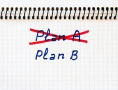 Plan A failed we need plan B Stock Photos
