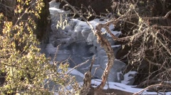 Water flowing under ice in Baima Snowy Mountains 2 Stock Footage