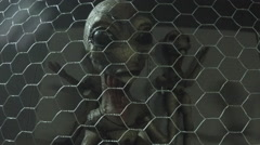 Grey Aliens In Cage- Roswell New Mexico Stock Footage