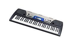 Electric piano isolated - stock photo