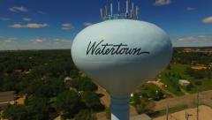 Watertown SD Water Tower HD Stock Footage
