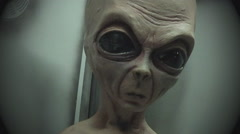 Old Grey Alien Close Up- Roswell New Mexico Stock Footage