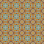 abstract vintage geometric wallpaper pattern seamless - stock illustration