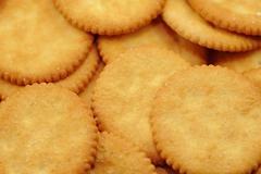 Crackers background - stock photo