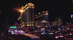 Las Vegas Boulevard With Caesars Palace Casino Hotel - stock footage