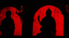 The inside of a Greek Orthodox Church Stock Footage