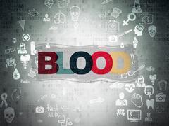 Medicine concept: Blood on Digital Paper background Piirros