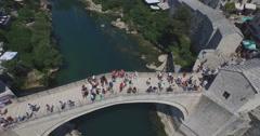 Stock Video Footage of Old Bridge. Mostar, Bosnia and Herzegovina