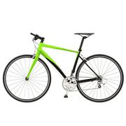 Green bike detail isolated Stock Photos