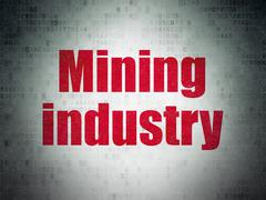 Industry concept: Mining Industry on Digital Paper background Piirros