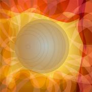 Autumn sun background with rays in yellow and orange Stock Illustration