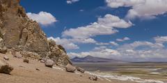 Tara Salt Flat, Salar de Atacama, San Pedro de Atacama, El Loa Province, - stock photo
