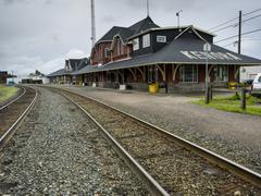 Railroad station, Kenora, Lake Of The Woods, Ontario, Canada - stock photo