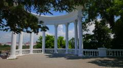Rotunda on the embankment in Sevastopol. Crimea. - stock footage