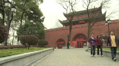 Nanjing Drum Tower, Ancient China Stock Footage