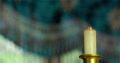 Colorful and Bright Candle Blowing Out 4K Stock Footage