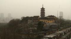 Pagoda of Jiming Temple, Nanjing, China Stock Footage
