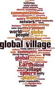Global village word cloud Stock Illustration