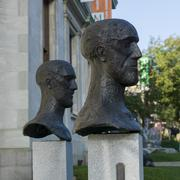 Sculpture Garden at Montreal Museum of Fine Arts in Montreal - stock photo