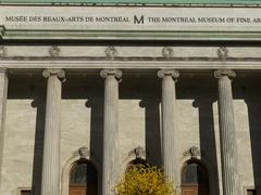 Front view of the Montreal Museum of Fine Arts in Montreal Stock Photos