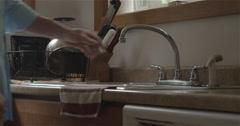Man Washing Hands in Kitchen Sink 4K Stock Footage