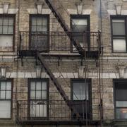 Stock Photo of Fire Escape on exterior of a building in Midtown Manhattan