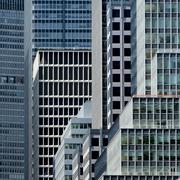 View of buildings in Manhattan Stock Photos