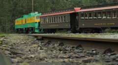 Old Time Train Passing Slow and Down Low - stock footage
