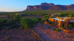 Right rotation pan at Superstition mountain home AZ.mp4 Stock Footage