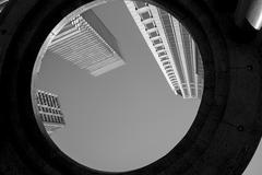 Low angle view of buildings in Midtown, Manhattan, New York City Stock Photos