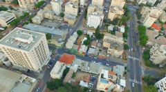 Aerial shooting of the residential district - stock footage